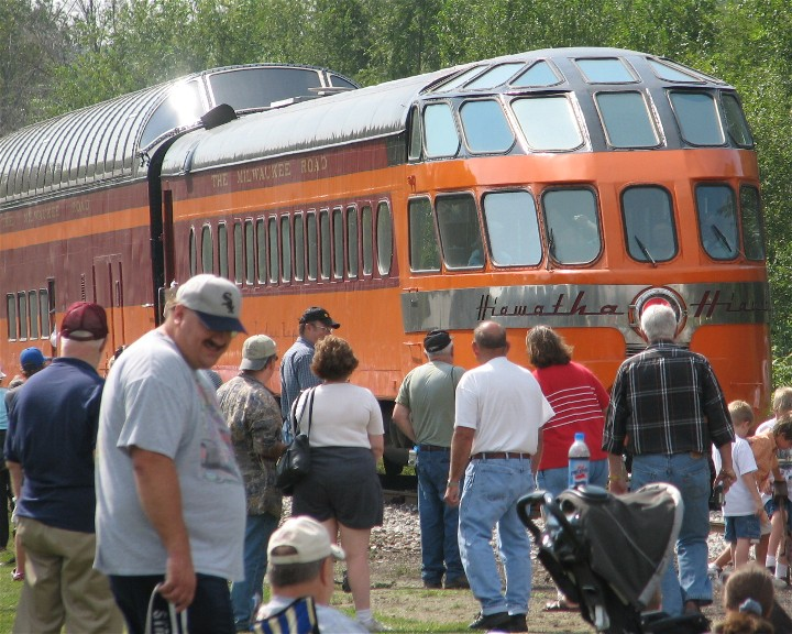 Triple headed steam locomotive train happy birthday for Bureau junction il